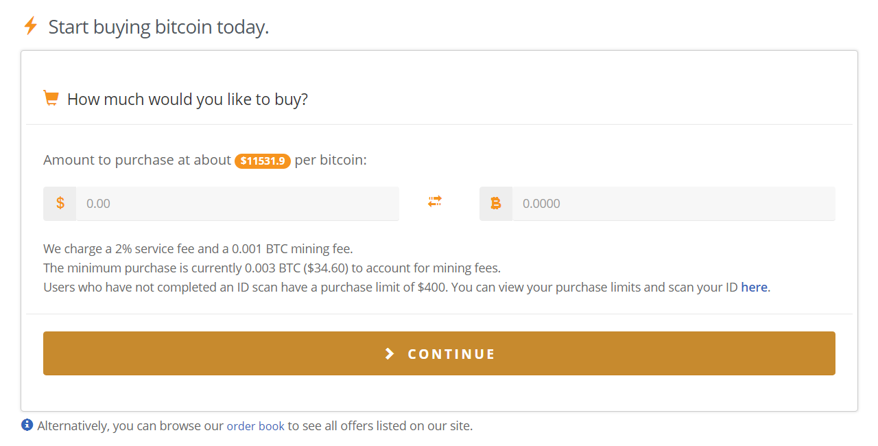 how to buy on bitquick