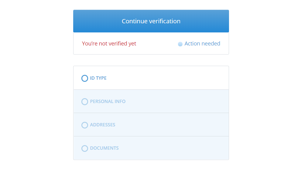 verification on cex.io